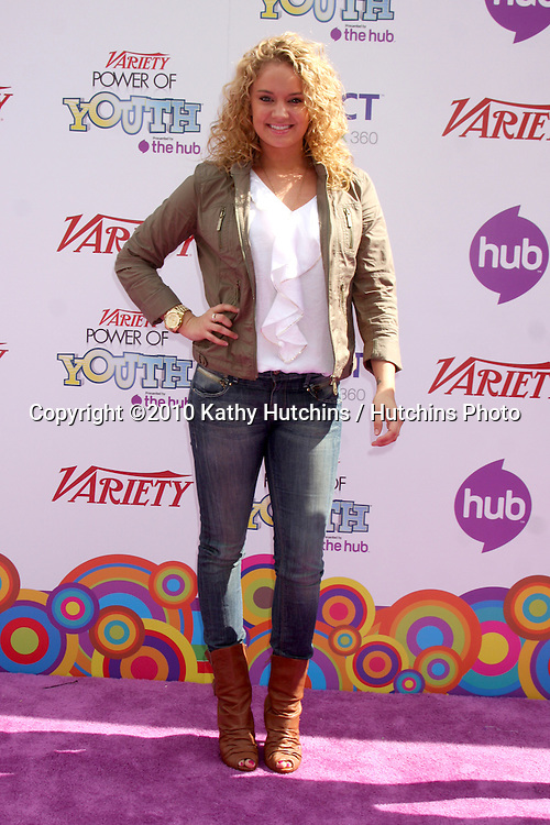 LOS ANGELES - OCT 24:  Tiffany Thornton arrives at the Variety Power of Youth Event 2010 at Paramount Studios on October 24, 2010 in Los Angeles, CA