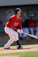 Outfielder Daniel Nava #33 of the Pawtucket Red Sox during a game versus the Syracuse Chiefs on April 21, 2011 at McCoy Stadium in Pawtucket, Rhode Island. Photo by Ken Babbitt /Four Seam Images