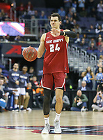 Washington, DC - March 10, 2018: Saint Joseph's Hawks forward Pierfrancesco Oliva (24) calls a play during the Atlantic 10 semi final game between Saint Joseph's and Rhode Island at  Capital One Arena in Washington, DC.   (Photo by Elliott Brown/Media Images International)