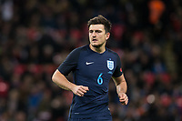 Harry Maguire (Leicester City) of England during the International Friendly match between England and Germany at Wembley Stadium, London, England on 10 November 2017. Photo by Andy Rowland.