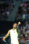Gael Monfils (FRA) wins at Australian Open in Melbourne Australia on 17th January 2013