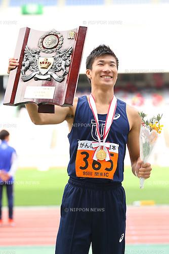 Yoshihide Kiryu, <br /> MAY 20, 2016 - Athletics : <br /> The 95th Kanto University Athletics Championship <br /> Men's 100m Award Ceremony <br /> at Nissan Stadium, Kanagawa, Japan. <br /> (Photo by YUTAKA/AFLO SPORT)