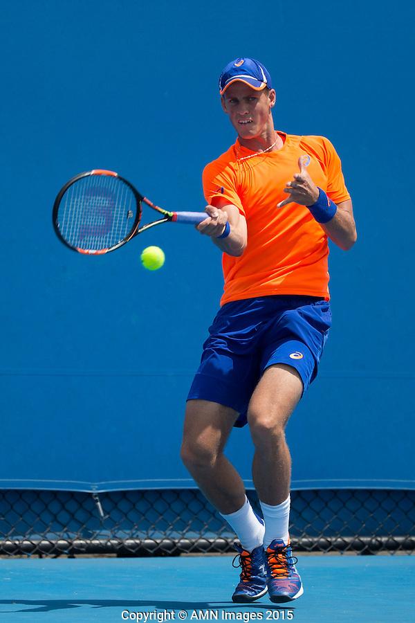 Vasek Pospisil (CAN)<br /> <br /> Tennis - Australian Open 2015 - Grand Slam -  Melbourne Park - Melbourne - Victoria - Australia  - 22 January 2015. <br /> &copy; AMN IMAGES