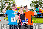 At the inaugural CBS The Green 5k and 3k fun run on Sunday were l-r Jessie Brosnan, Betty Brosnan and Zach Brosnan