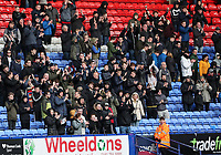 Bolton Wanderers' supporters enjoying victory<br /> <br /> Photographer Andrew Kearns/CameraSport<br /> <br /> The EFL Sky Bet Championship - Bolton Wanderers v Millwall - Saturday 9th March 2019 - University of Bolton Stadium - Bolton <br /> <br /> World Copyright © 2019 CameraSport. All rights reserved. 43 Linden Ave. Countesthorpe. Leicester. England. LE8 5PG - Tel: +44 (0) 116 277 4147 - admin@camerasport.com - www.camerasport.com