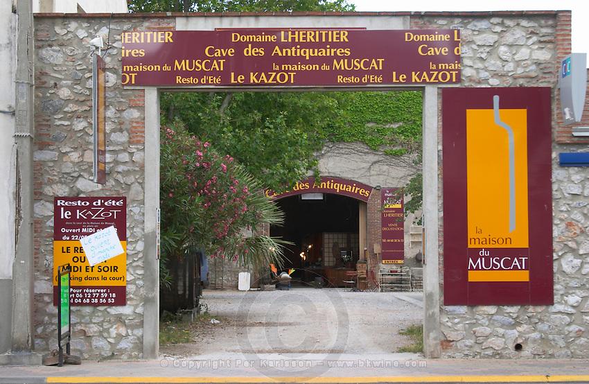 Wine shop. Maison du Muscat. Rivesaltes town, Roussillon, France