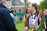 KAATSEN: WEIDUM: Kaatsvereniging 'Nije Kriich', 29-04-2012, Bangmapartij, Finale Goutum - Minnertsgea, Eindstand 5-4 (6-4), Daniël Iseger, ©foto Martin de Jong