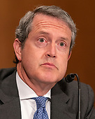 """Randal K. Quarles, Vice Chairman For Supervision, Board of Governors of the Federal Reserve System testifies before the United States Senate Committee on Banking, Housing and Urban Affairs hearing titled """"Implementation of the Economic Growth, Regulatory Relief, and Consumer Protection Act"""" on Capitol Hill in Washington, DC on Tuesday, October 2, 2018.<br /> Credit: Ron Sachs / CNP"""