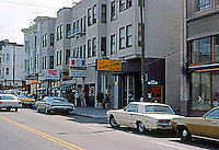 San Francisco:  North Beach--looking east on Stockton.  Photo '87.
