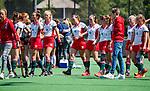 BLOEMENDAAL - Teleurstelling bij MOP na de tweede Play Out wedstrijd hockey dames, Bloemendaal-MOP (5-1)  COPYRIGHT KOEN SUYK