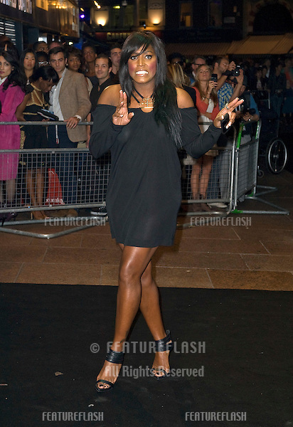 Mica Paris arriving for the Oswald Boateng Fashion Show, Odeon Leicester Square, London. 22/09/2010  Picture by: Simon Burchell / Featureflash.