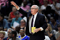 Washington, DC - June 1, 2019: Washington Mystics head coach Mike Thibault on the sideline during game between Atlanta Dream and Washington Mystics at the St. Elizabeths East Entertainment and Sports Arena (Photo by Phil Peters/Media Images International)