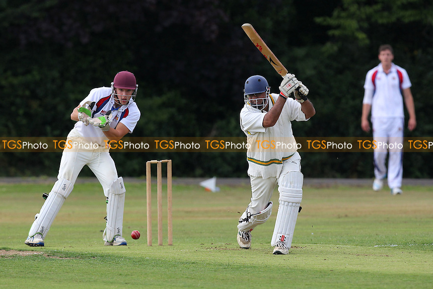 Herongate CC (batting) vs Hornchurch Athletic CC - Mid-Essex Cricket League - 09/08/14 - MANDATORY CREDIT: Gavin Ellis/TGSPHOTO - Self billing applies where appropriate - contact@tgsphoto.co.uk - NO UNPAID USE