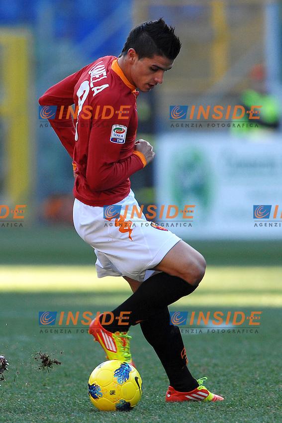 ERik Lamela Roma.Roma 08/01/2012 Stadio Olimpico.Serie A 2011/2012 Football Calcio .Roma Vs Chievo Verona.Foto Insidefoto Andrea Staccioli
