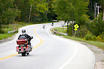 Motorcycles in the Killington region of Vermont.