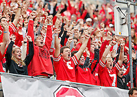 Ohio State Buckeyes students cheer before the start of the game against Kent State Golden Flashes in Ohio Stadium on September 13, 2014.  (Dispatch photo by Kyle Robertson)