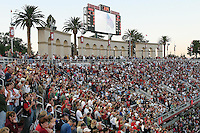 16 September 2006: Fans in front of the arches during Stanford's 37-9 loss to Navy during the grand opening of the new Stanford Stadium in Stanford, CA.