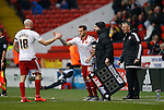 Conor Sammon of Sheffield Utd comes off to be replaced by Billy Sharp of Sheffield Utd - English League One - Sheffield Utd vs Coventry City - Bramall Lane Stadium - Sheffield - England - 13th December 2015 - Pic Simon Bellis/Sportimage-