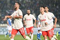 Miralem Pjanic of Juventus celebrates after scoring the goal of 1-2 <br /> Brescia 24-09-2019 Stadio Rigamonti<br /> Football Serie A 2019/2020 Brescia - Juventus  <br /> Photo Matteo Gribaudi / Image Sport / Insidefoto
