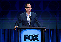 2019 FOX SUMMER TCA: Charlie Collier, CEO, FOX Entertainment addresses TCA members during the EXECUTIVE SESSION at the 2019 FOX SUMMER TCA at the Beverly Hilton Hotel, Wednesday, Aug. 7 in Beverly Hills, CA. CR: Frank Micelotta/FOX/PictureGroup