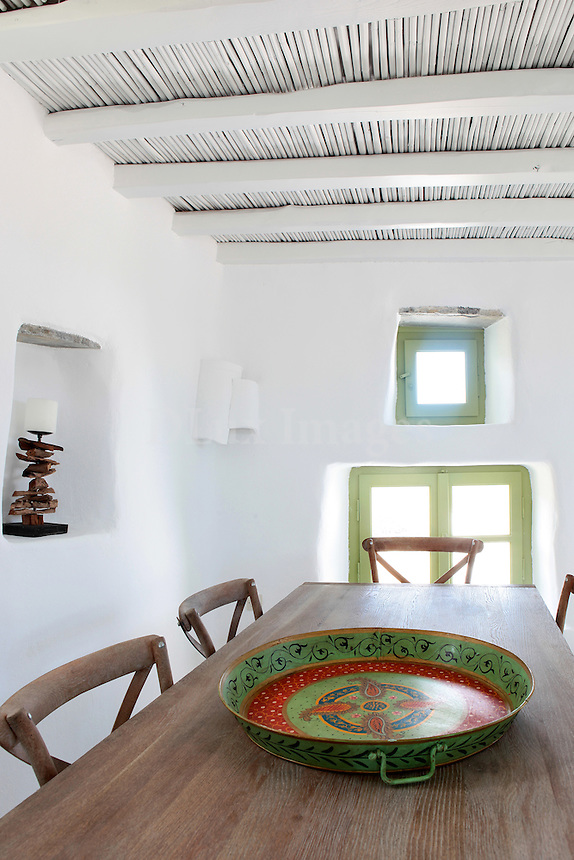 traditional cycladic dining room