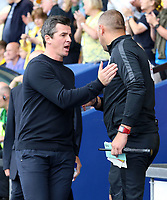 Fleetwood Town Manager Joey Barton before kick off<br /> <br /> Photographer David Shipman/CameraSport<br /> <br /> The EFL Sky Bet League One - Oxford United v Fleetwood Town - Saturday August 11th 2018 - Kassam Stadium - Oxford<br /> <br /> World Copyright &copy; 2018 CameraSport. All rights reserved. 43 Linden Ave. Countesthorpe. Leicester. England. LE8 5PG - Tel: +44 (0) 116 277 4147 - admin@camerasport.com - www.camerasport.com