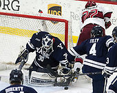 Patrick Spano (Yale - 30), Devin Tringale (Harvard - 22), Matt Foley (Yale - 4) - The Harvard University Crimson tied the visiting Yale University Bulldogs 1-1 on Saturday, January 21, 2017, at the Bright-Landry Hockey Center in Boston, Massachusetts.