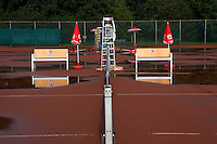 27-08-11, Tennis, Amstelveen, NVK, Nederlandse Veteranen Kampioenschappen, Water op de banen