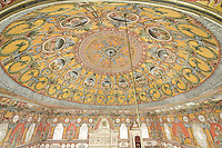 Ceiling detail the Colored Mosque, Tetovo, Macedonia, Western Balkans, Europe