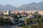 Tirana/Tirane-Albania - August 01, 2004---Partial view of Tirana, capital city of Albania, from the center towards Northeast; infrastructure---Photo: © HorstWagner.eu