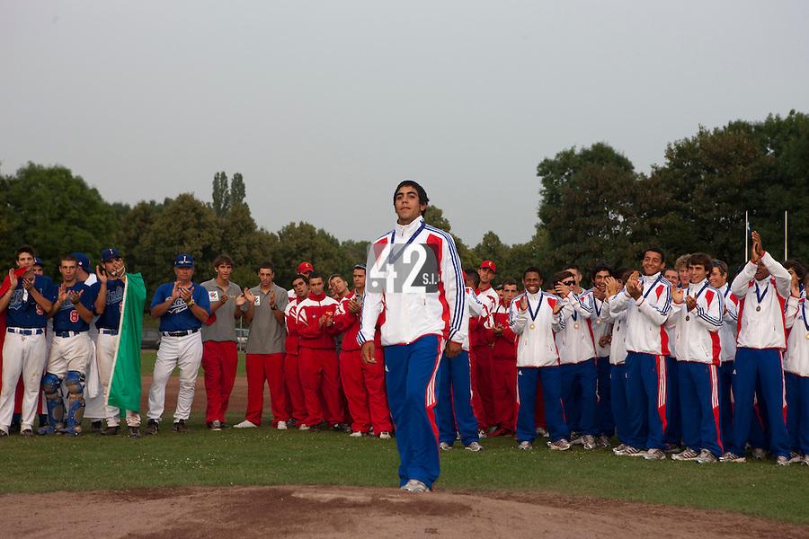 Baseball - 2009 European Championship Juniors (under 18 years old) - Bonn (Germany) - 09/08/2009 - Day 7 - Christopher Morel (France)