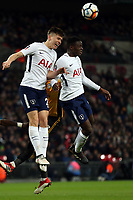 Serge Aurier and Juan Foyth of Tottenham Hotspur during Tottenham Hotspur vs Newport County, Emirates FA Cup Football at Wembley Stadium on 7th February 2018