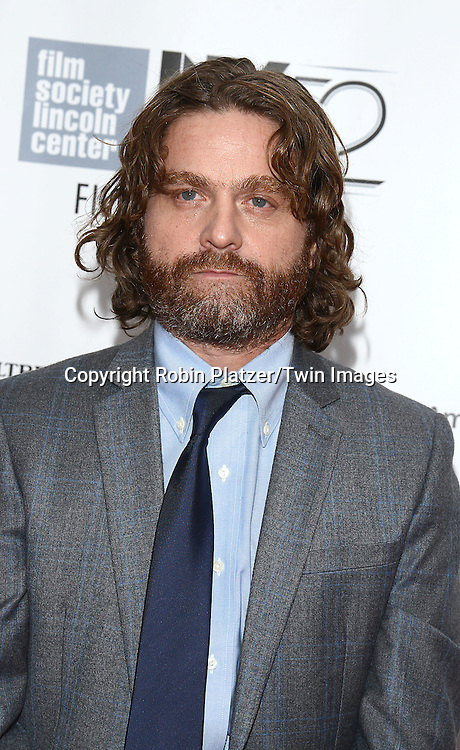 Zach Galifianakis attends &quot;Birdman or The Unexpected Virtue of Ignorance&quot; screening at The 52nd New York Film Festival on October 11, 2014 at Alice Tully Hall in New York City. <br /> <br /> photo by Robin Platzer/Twin Images<br />  <br /> phone number 212-935-0770