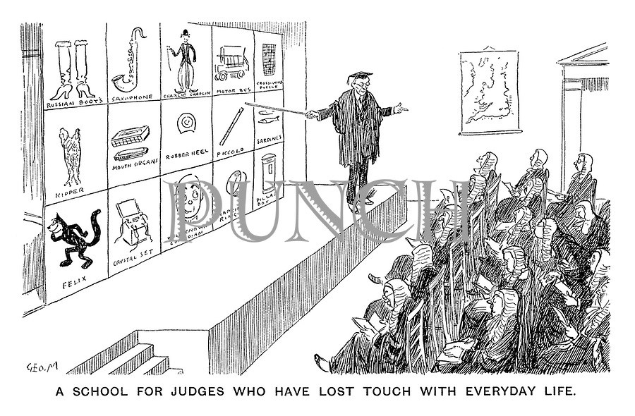 A School for Judges Who Have Lost Touch with Everyday Life.