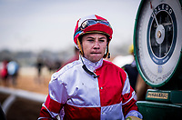 ARCADIA, CA - DECEMBER 26: Jockey Drayden Van Dyke at Santa Anita Park on December 26, 2017 in Arcadia, California. (Photo by Alex Evers/Eclipse Sportswire/Getty Images)