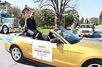 NFL player Anthony Becht - grand sports Marshal in the 2011 Grand Feature Parade at the 32nd Annual Mountain State Apple Harvest Festival on October 15, 2011 in Martinsburg, West Virginia. (Photo by Sue Coflin/Max Photos)