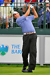 29 August 2009: Matt Kuchar tees off on the first hole during the third round of The Barclays PGA Playoffs at Liberty National Golf Course in Jersey City, New Jersey.