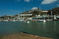 East Looe and the River Looe from West Looe, Looe, Cornwall