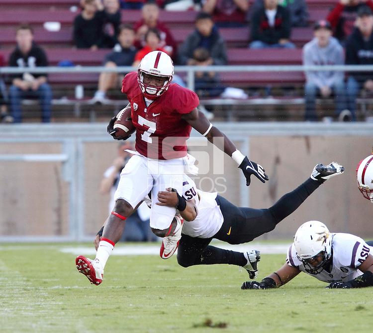 Stanford, CA; Saturday September 21, 2013: Football, Stanford vs Arizona State.