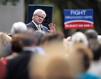 11/17/11 3:22:20 PM -- Jacksonville, FL, U.S.A. -- Republican presidential candidate Newt Gingrich addresses and answers questions from the audience during a town hall meeting at The Jacksonville Landing in downtown Jacksonville, Fl. Thursday afternoon November 17, 2011. The the meeting was sponsored by the First Coast Tea Party.   Photo by Rick  Wilson, Freelance.