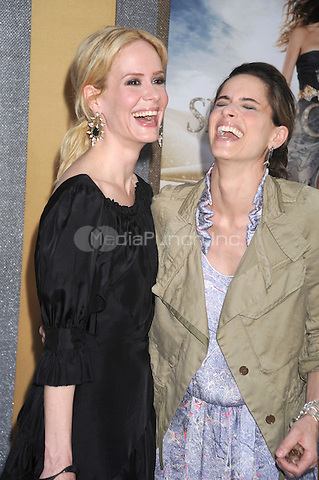 Sarah Paulson and Amanda Peet at the film premiere of 'Sex and the City 2' at Radio City Music Hall in New York City. May 24, 2010.Credit: Dennis Van Tine/MediaPunch