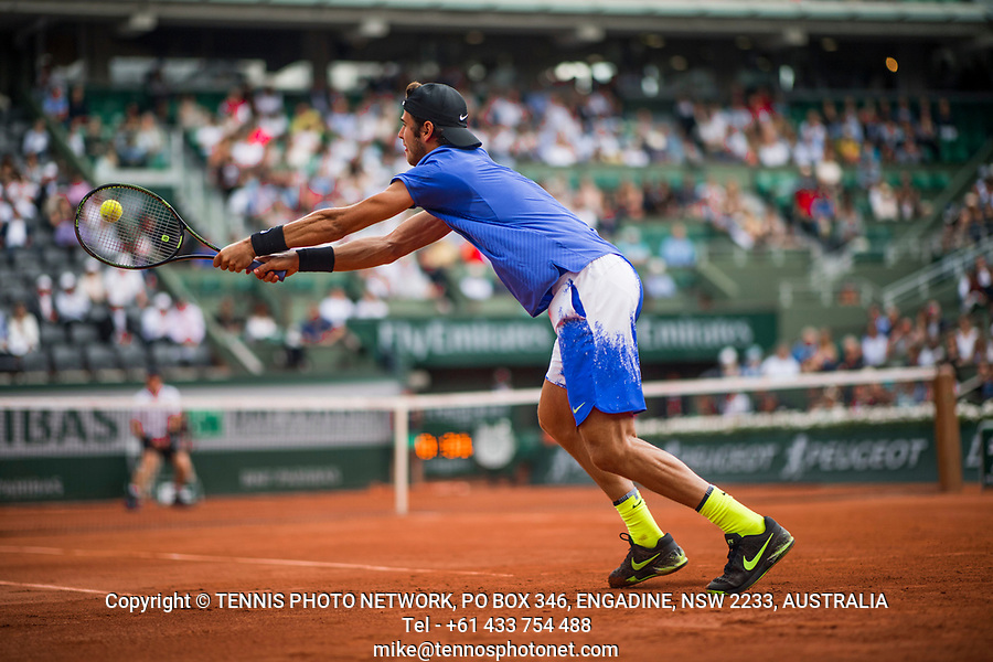 KAREN KHACHANOV (RUS)<br /> <br /> TENNIS - FRENCH OPEN - ROLAND GARROS - ATP - WTA - ITF - GRAND SLAM - CHAMPIONSHIPS - PARIS - FRANCE - 2017  <br /> <br /> <br /> <br /> &copy; TENNIS PHOTO NETWORK