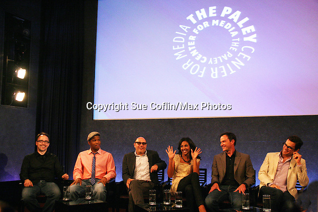 "Guiding Light's Matt Bomer ""Ben Reade"" and now ""Neal Caffrey on USA's White Collar and cast: (L to R) Jeff King - co-executive producer, Sharif Atkins ""Jones"", Willie Garson ""Mozzie"", Marsha Thomason ""Diana"", Tim DeKay ""Peter Burke"" were a part of White Collar Comes Clean at the Paley Center for Media, New York City, NY on June 7, 2010. (Photo by Sue Coflikn/Max Photos)"