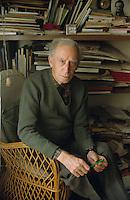 1990, Firenze, Mario Luzi, nato a Firenze il 20 ottobre 1914; un grande Poeta e scrittore italiano;  © Leonardo Cendamo