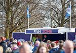 24.3.2018: Rangers legends match:<br /> Lorenzo Amoruso entertaining fans pre match in the fan zone