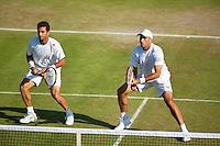 England, London, 28.06.2014. Tennis, Wimbledon, AELTC, Jean-Julian Rojer (NED) (L) with his doubles partner Horacia Tecau (ROU)<br /> Photo: Tennisimages/Henk Koster
