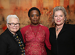 Paula Vogel, Antoinette Nwandu and Kate Mulgrew attends The Vineyard Theatre's Emerging Artists Luncheon at The National Arts Club on November 9, 2017 in New York City.