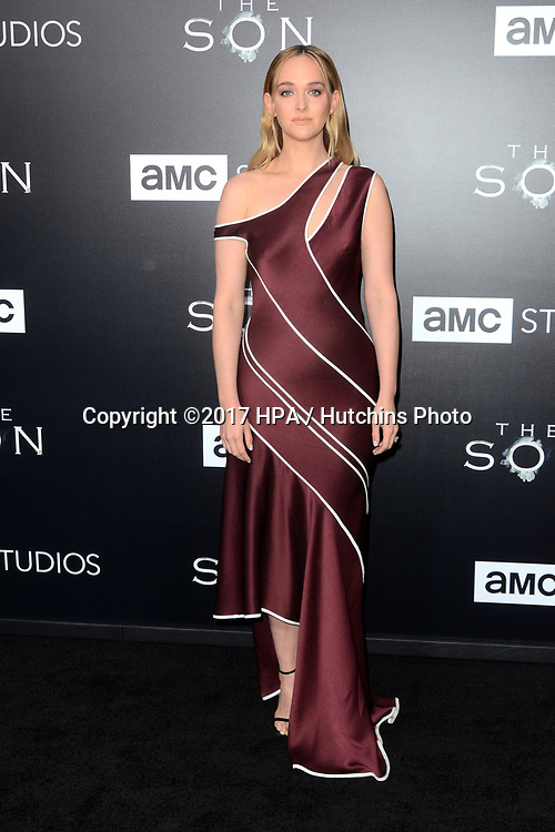 """LOS ANGELES - APR 3:  Jess Weixler at the AMC's """"The Son"""" Season One LA Premiere at ArcLight Theater on April 3, 2017 in Los Angeles, CA"""