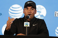 Jason Day (AUS) press conference during Wednesday's Pracitce Day of the 2018 AT&amp;T Pebble Beach Pro-Am, held over 3 courses Pebble Beach, Spyglass Hill and Monterey, California, USA. 7th February 2018.<br /> Picture: Eoin Clarke | Golffile<br /> <br /> <br /> All photos usage must carry mandatory copyright credit (&copy; Golffile | Eoin Clarke)