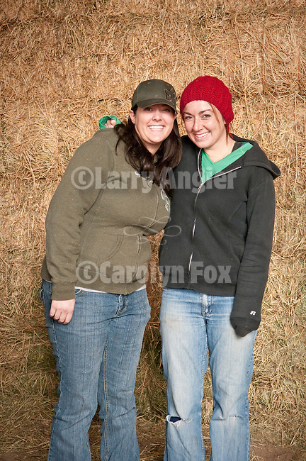 Families gather after Christmas at the Cuneo Ranch in California's Mother Lode, Teresa and Bridget